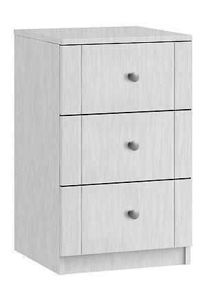 Sienna 3 Drawer Wide Bedside - White