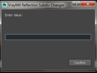 VrayMtl Reflection SubDiv Changer
