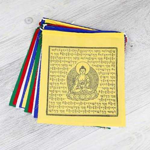 Tibetan Prayer Flag - Medicine Budda