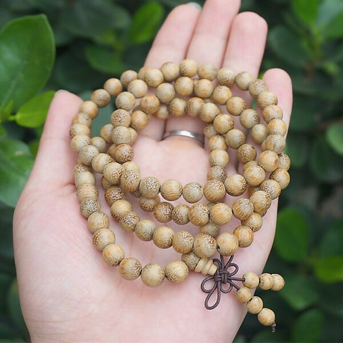 Mandala Prayer Beads- Bamboo