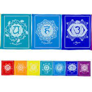 Tibetan Prayer Flag - Chakra