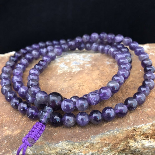 Mandala Prayer Beads- Amethyst