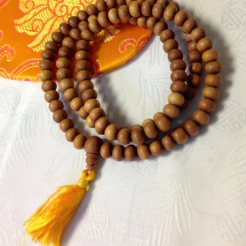 Mandala Prayer Beads- Sandalwood