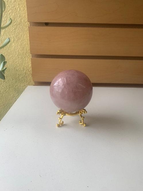 Rose Quartz Sphere , 2.2 lbs