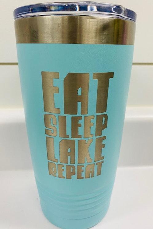 Eat Sleep Lake Repeat Travel Coffee Mug