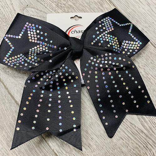 Black Sequin Bow
