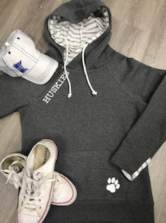Huskies Stripe Double Hood