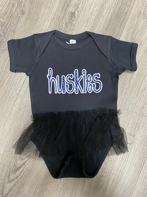 Black Huskies Tutu Onesie