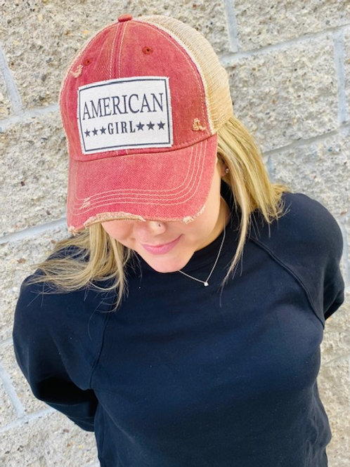 American Girl Trucker Hat