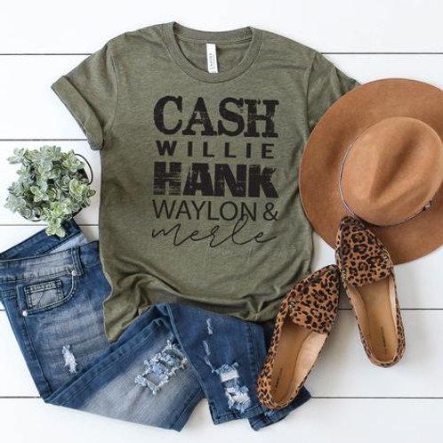 Cash Willie Hank Waylon and Merle