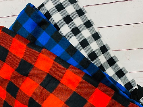 Buffalo Plaid Tie Blanket