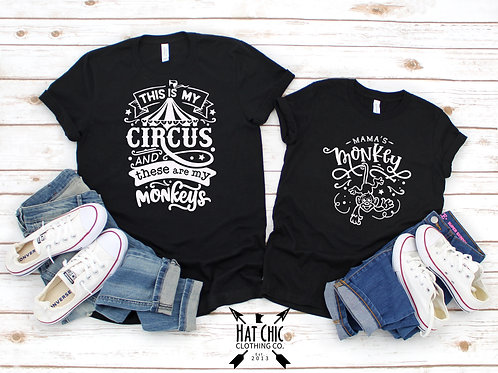 Circus Mommy and Me Tees