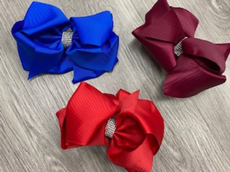 Rhinestone Center Knot Bows