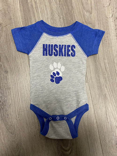 Huskies and Paws onesie