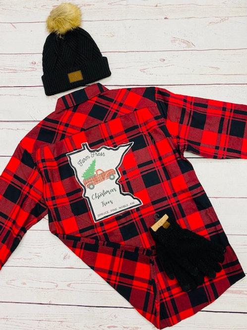 Farm Fresh Christmas Tree Flannel