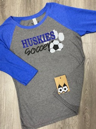 Huskies Soccer Paw 3/4 Sleeve