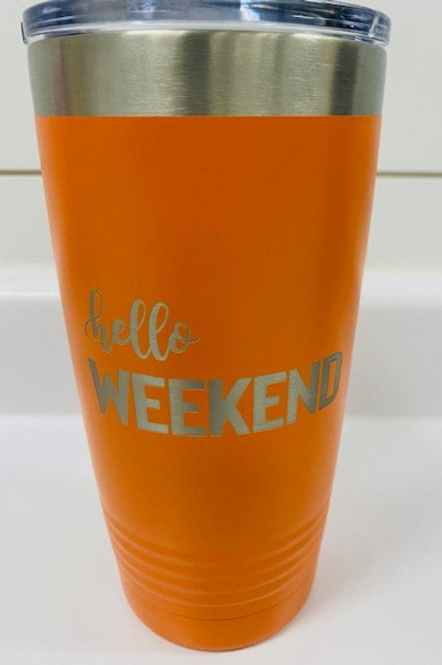 Hello Weekend Travel Mug