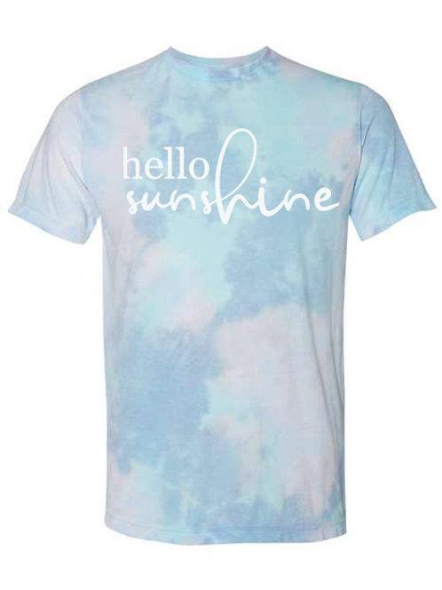 Hello Sunshine Tie Dye Tee
