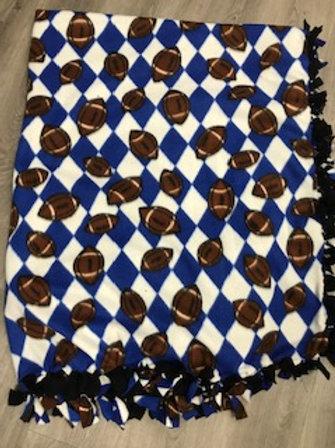 Football Tie Blanket