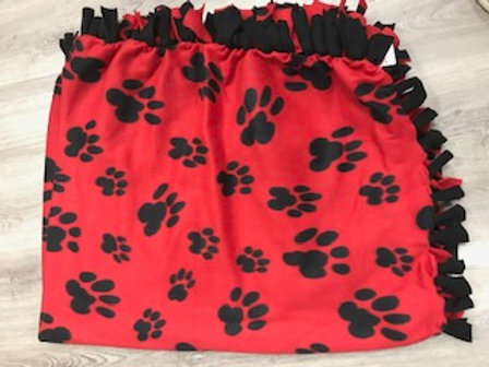 Red and Black Tie Blanket