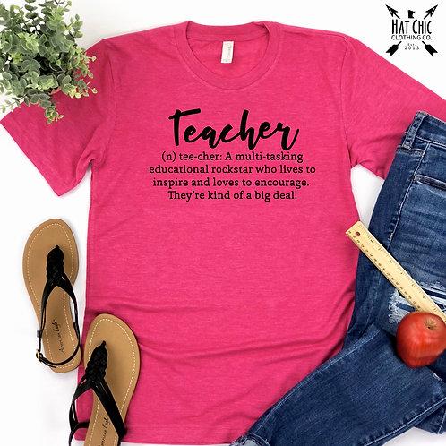 Pink Teacher Tee