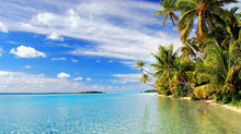 Aitutaki Beach, Cook Islands in the South Pacific