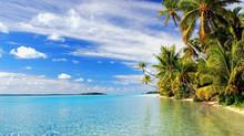 Aitutaki Beach, Cook Islands in the South Pacific