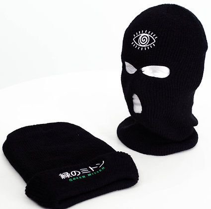 GREEN MITTEN BEYOND DEATH SKI MASK