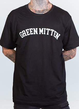 GREEN MITTEN BLACK TEE