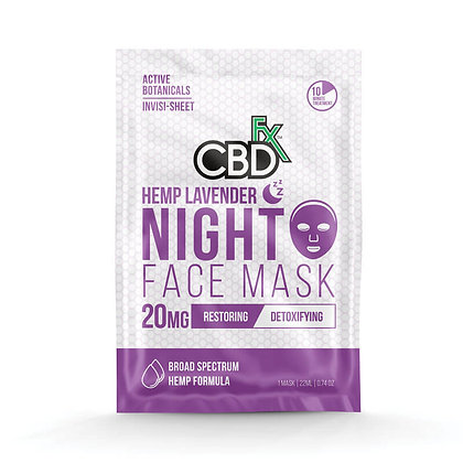 LAVENDER CBD NIGHT FACE MASK – 20mg