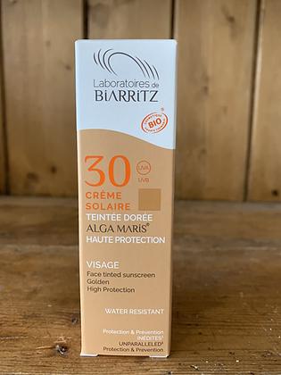Crème solaire teintée dorée  SPF30 - 50ml - LABORATOIRE DE BIARRITZ