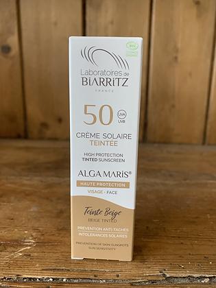 Crème solaire teintée beige SPF50 - 50ml - LABORATOIRE DE BIARRITZ