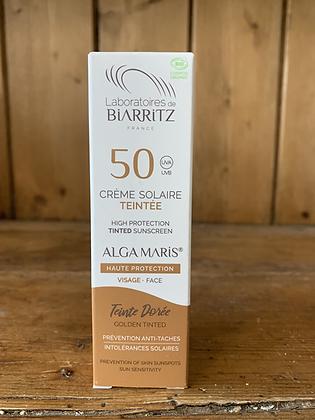 Crème solaire teintée dorée  SPF50 - 50ml - LABORATOIRE DE BIARRITZ