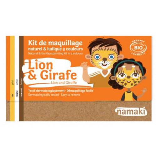 kit 3 couleurs lion & girafe