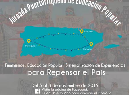 Comienza la Jornada Puertorriqueña de Educación Popular