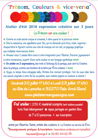 STAGE D'EXPRESSION CRÉATIVE