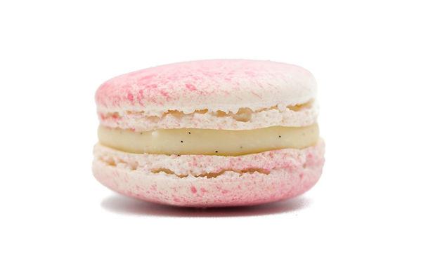 [Box of 8] Vanilla-Raspberry Macarons