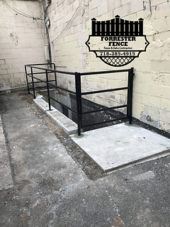 Pipe Handrail and Gate by Forrester Fence Co. (718) 385-4915