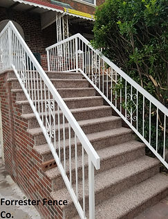 Iron Hand Rail by Forrester Fence Co. (718) 385-4915
