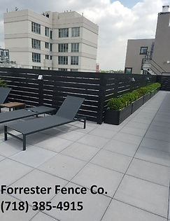 Horizontal Wood Fence by Forrester Fence Co. (718) 385-4915