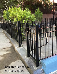 Wrought Iron Fence and Gate by Forrester Fence Co. (718) 385-4915