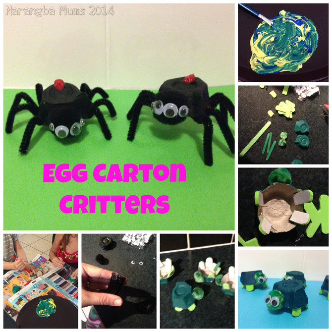 Kids Craft, Egg Carton Critters