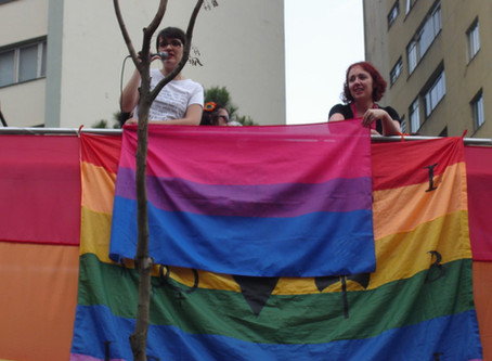Bonde Bi na Caminhada Lésbica e Bissexual de 2017