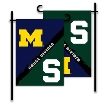 Michigan - Michigan St. House Divided 2-Sided Garden Flag