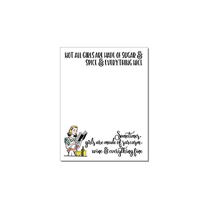 Witty Women - Sugar and Spice Note Pad