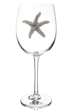 Starfish Jeweled Wine Glass