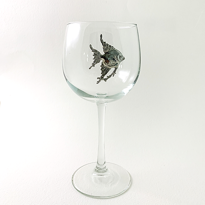 Tropical Fish Red Wine Goblet 16 oz copyright by Maurice Milleur
