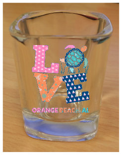 Love Turtle Shot Glass