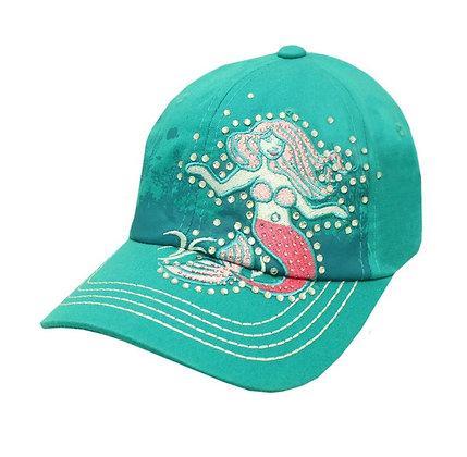Turquoise Stud Mermaid Cap