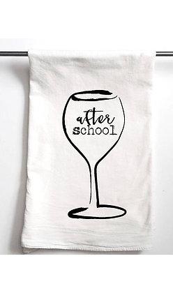 After School Wine Tea Towel